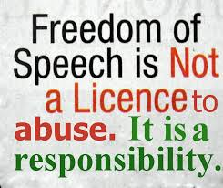 freedom of speech is a responsibility