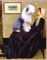 Whistler's mother and hersheepdog